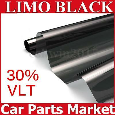 6mX50cm 30% Window Tint Film Black Roll VLT 2 PLY Auto Car House Glass Home
