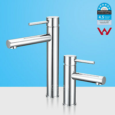 WELS Round Tall High Rise Kitchen Sink Vainty WATERFALL Flick Basin Mixer Tap