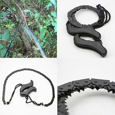 70cm Mini Hand Chainsaw Wire Saw Survival Bushcraft Camping EDC Tool Pocket Gear