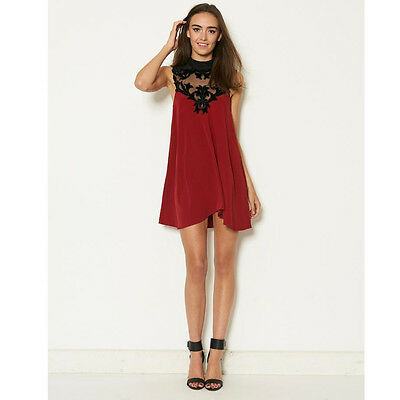 Ginger Fizz Asos My Valentine Swing Dress In Black Or Maroon Gf21231