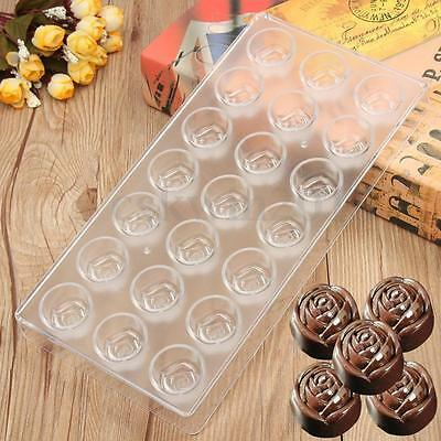 Rose-shaped Pastry Tools Polycarbonate Chocolate Mold Clear Mold Cake Mould DIY