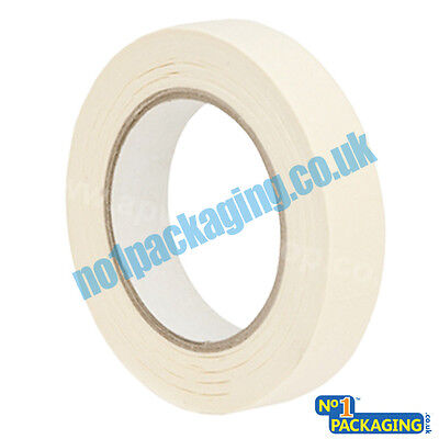 12 Rolls LOW TACK Quality Masking Tape 24mm X 50m *Lowest Price*DECORATING TRADE