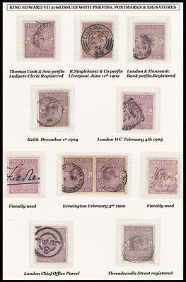SG260 Edward VII 2/6d. A fine selection of used stamps.