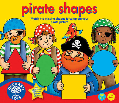Orchard Toys Pirate Shapes a Fun Colourful Matching Game for Kids – NEW
