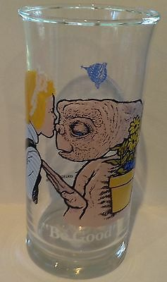 "Vintage ET glass tumbler 1982 ""be good"" Pizza Hut collectors edition"