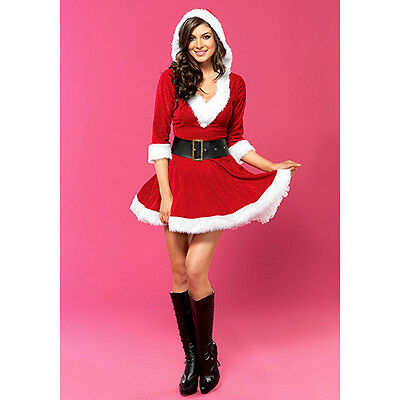 COSTUME SEXY MRS. CLAUS HOODED DRESS Taglia XL LEG AVENUE  Sexy Shop Toys
