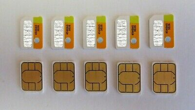 Lot Of 100 Brand New At&t Nano Sim Cards 4G Lte