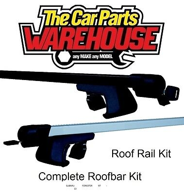 Full Roof Rack Bar Kit SUM520 Mountney WITH RAILS SUBARU FORESTER 97 - 13