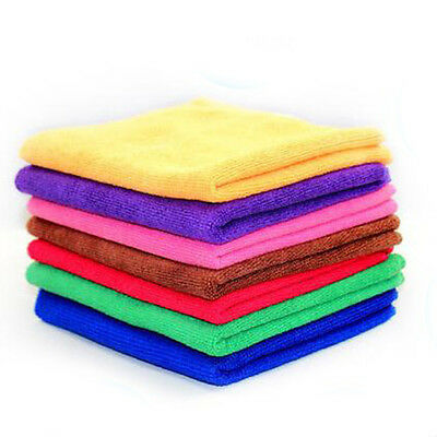 Good Quality Microfiber Towel Water Car Dry Clean Absorbant Cloth Random Color