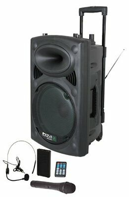 Ibiza Mobile Akku Sound Beschallungsanlage PA DJ Box Bluetooth USB SD Mikrofon