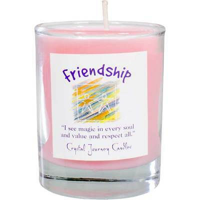 CANDLE - FRIENDSHIP Herbal Magic Votive Candle - Crystal Journey