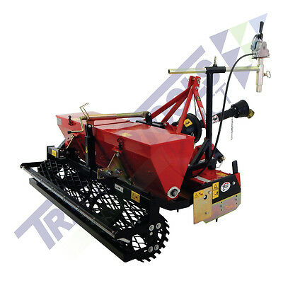 TS47 Compact Power Harrow with Mechanical Drop Seeder for Compact Tractors