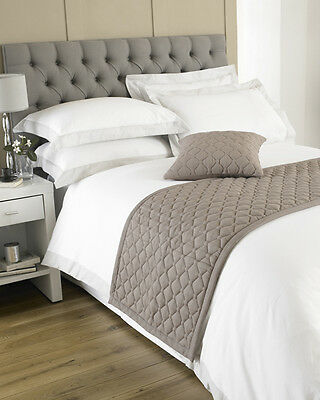 Loire Taupe Cotton Bed Runner