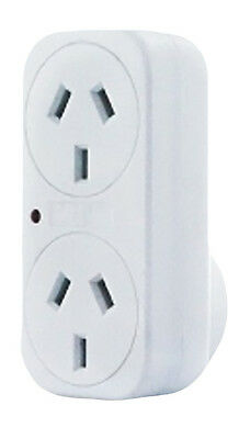 Brand New Vertical Double Adaptor Surge Protection Australian Standards
