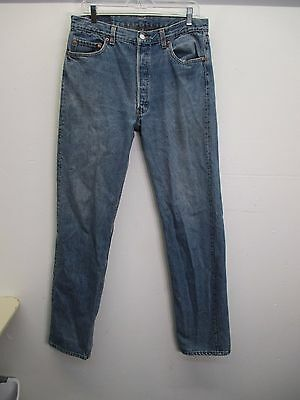d5fab79a Men's Levi's 501 light wash classic straight leg button fly jeans size  36x36 (34