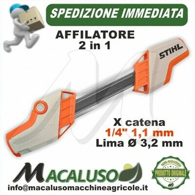 "Affilatore 2 in 1 Stihl catena 1/4""P lima 3,2 mm. tondino 56057504306 ms150tc"