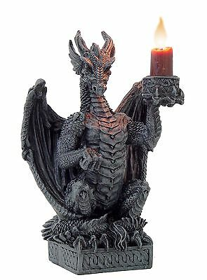 Gothic Noble Dragon Candle or Incense Cone Holder by Nemesis Now - New 16.5cm