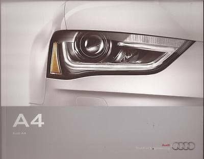 2013 13  Audi  A4  original sales  brochure  MINT