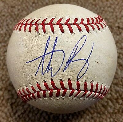 Anthony Rizzo MLB Holo Game Used Autographed Baseball Home Run 2014 Chicago Cubs