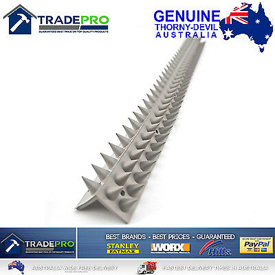 Thorny Devil® Spikes L Shape Grey PVC 45cm Bird Possum Fence Climbing Deterrent