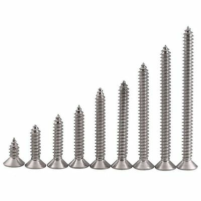 M2.2 M2.6 M3 Sheet Metal Screws Phillips Flat Head Self Tapping 304 A2 Stainless