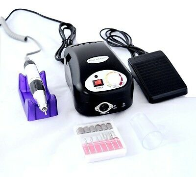 Nail Power Electric Nail Drill File Buffer Nail Machine & Accessories Black