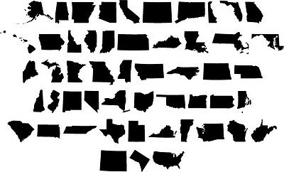 DXF File ( 50 USA States ) BEST SELLER!!