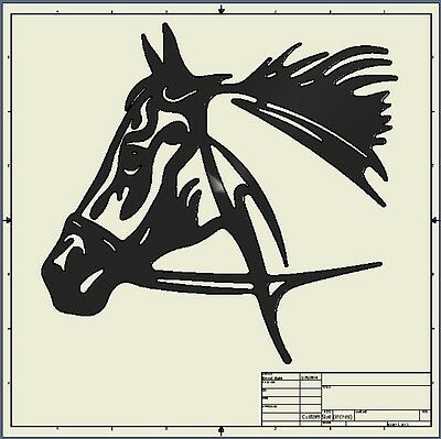 Dxf File ( horse_head )