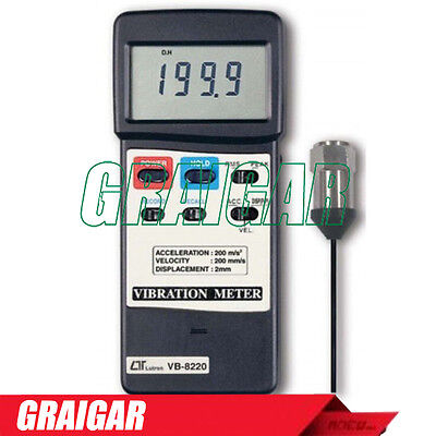 NEW Acceleration 200m/s^2 Velocity 200mm/s 2mm p-p displacement vibration meter