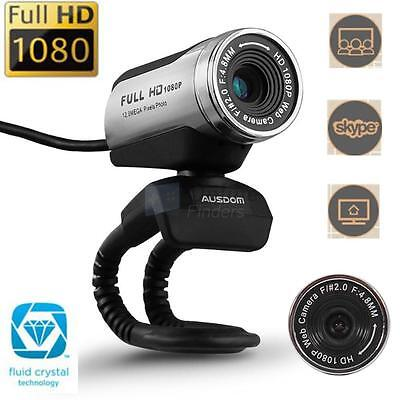 AUSDOM AW615 1080P Full HD 12.0M USB2.0 Webcam Video Camera w/Mic for PC Skype