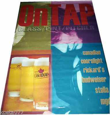 Large Vinyl Poster, Banner 6ft x 4ft, ON TAP, Canadian, Coorslight, Budweiser