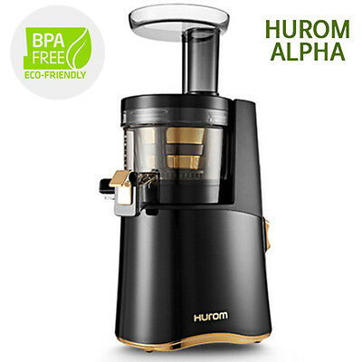 Genuine New Hurom Alpha H AA Series Cold Press Juicer Machine Healthy Diet Black