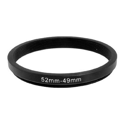 52mm-49mm 52mm to 49mm Black Step Down Ring Adapter For Camera DM