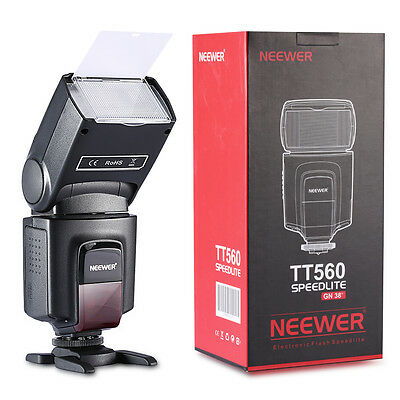 Neewer TT560 Flash Speedlite Flashlight for Canon Nikon Olympus DSLR Camera UK