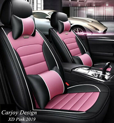 Leather Car Seat Cover Honda Accord Euro Jazz Civic City CRV HRV - Crown Black