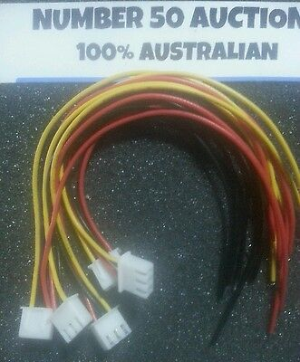 5 x 2 CELL 2s 7.4v JST-XH MALE PLUGS WITH 15cm wire  100% AUSTRALIAN STOCK
