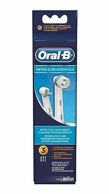 Braun Oral-B Ortho Care Essentials 3x Spazzole-Ricariche-ricambio