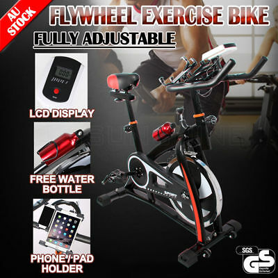 Commercial Spin Flywheel Bike Adjustable LCD Display Home Gym Fitness Exercise