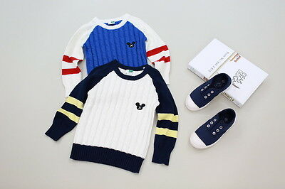 New Childrens Kids Winter Junior Jumper Knitted Sweater Assorted Designs