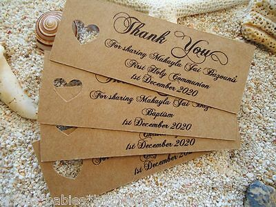 10 Brown Gift Tags Christening Baptism Confirmation Holy Communion Personalised