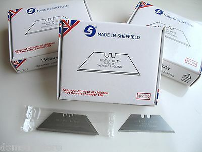 Jewel Blades Sheffield Made Replacement Heavy Duty Stanley Utility Knife Blades