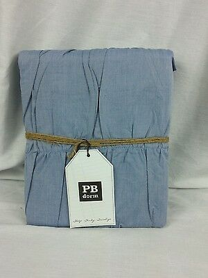 Pottery Barn Teen Chambray Ruched Duvet fits both twin and twin XL dorm mattress