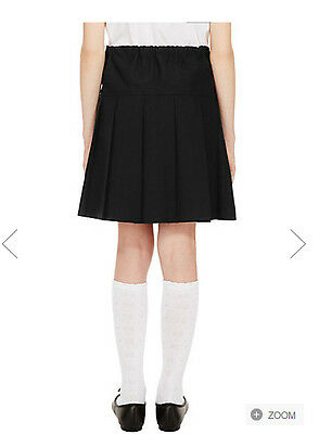 Girls School Skirts Pleated Ex Chainstore Ages 2-12 Black, Grey And Navy New