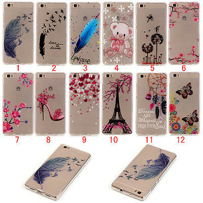 New Slim Clear Soft Silicone TPU Rubber Gel Back Case Cover For Huawei Ascend