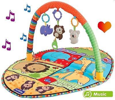 Baby Lullaby Lay&Play Toddler Activity Gym Mats Baby Animals Toys Soft Blanket