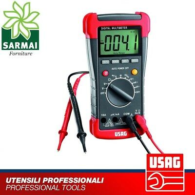 Usag 076A Multimetro Digitale Professionale 400/600 Dc Con Coppia Puntali