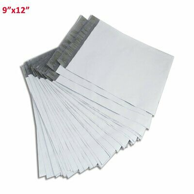 100 9x12 Mailing Bags Envelopes White Plastic Poly Mailers Self Sealing