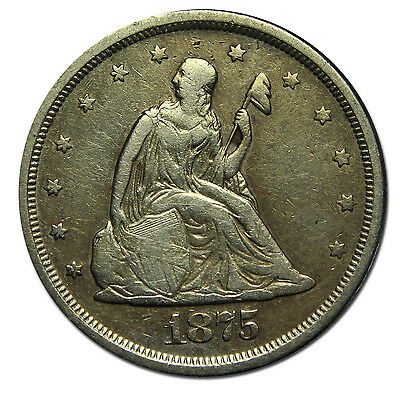1875S Twenty Cent 20¢ Seated Liberty Coin Lot# MZ 2398