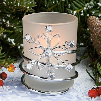 Set of 6 Snowflake Candle Wedding & Party Favours
