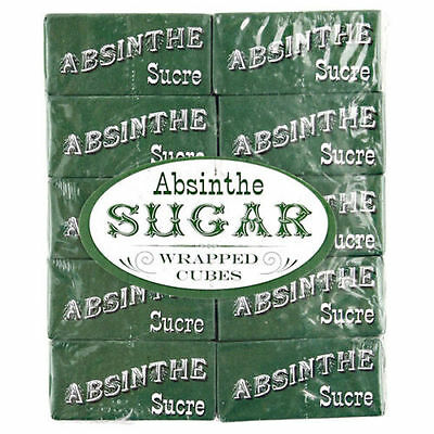 ABSINTHE SUGAR (French)  25 packets, 50 cubes